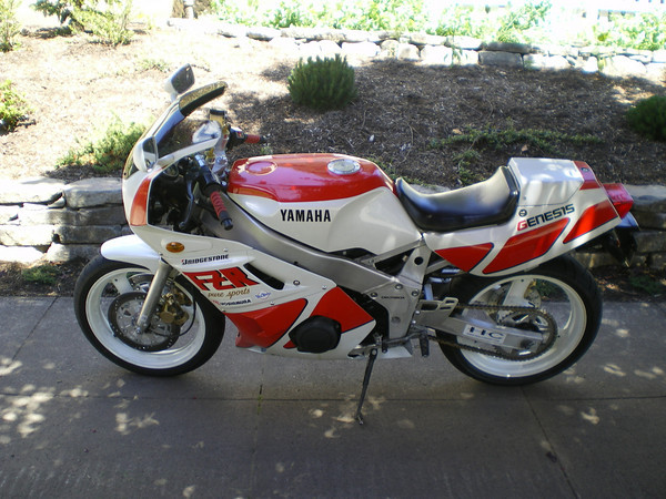 1989 Yamaha FZR400 Red and White