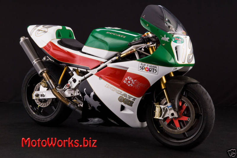 ducati 851 with ex-doug polen corsa frame - rare sportbikes for sale