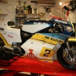 1982 Suzuki Moto GP rebuild in Randy Mamola factory design
