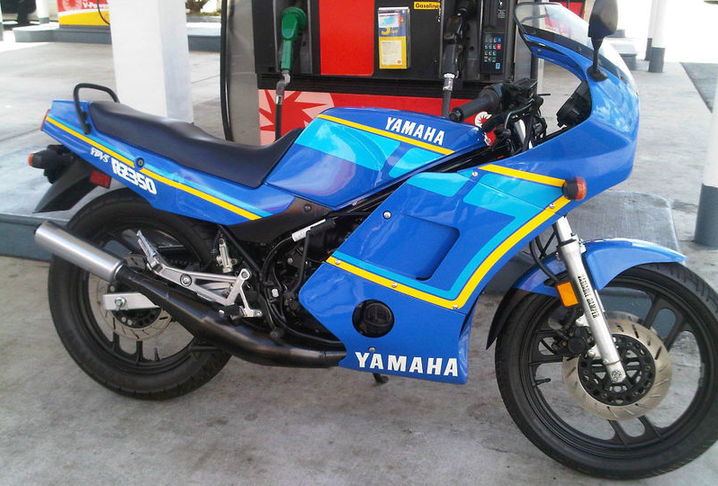 Blue smoke blue fairing titled 39 89 yamaha rz 350 ypvs for Yamaha rz for sale