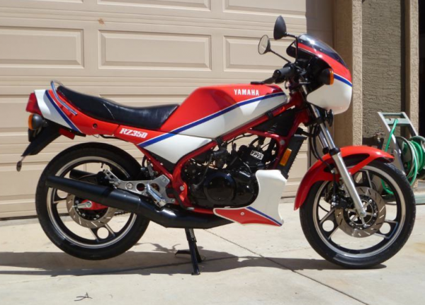 Low mile canadian and titled 39 83 yamaha rz350 rare for Yamaha rz for sale
