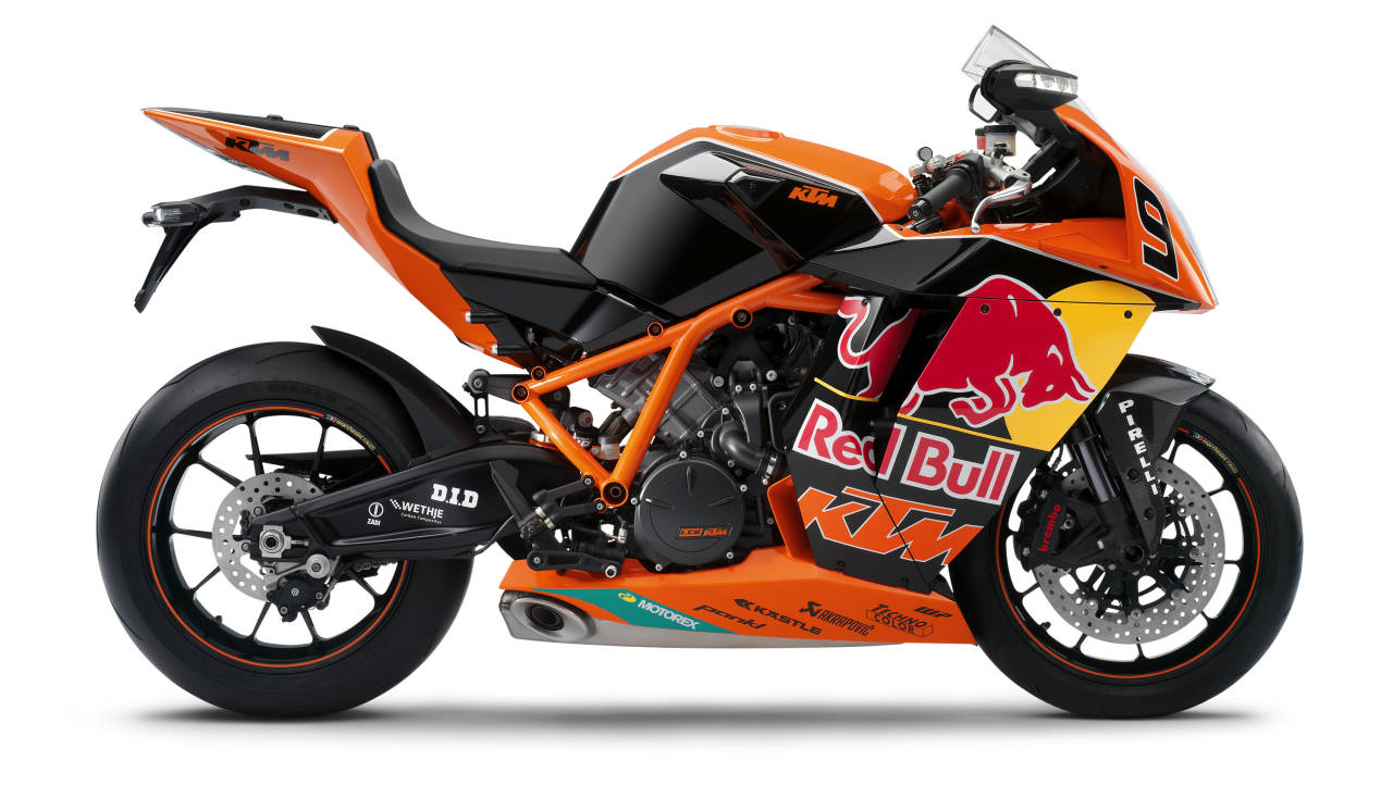 red bull gives ktm wings 3 ktm rc8r red bull editions rare sportbikes for sale. Black Bedroom Furniture Sets. Home Design Ideas