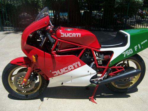 tri-colored survivor: 1985 ducati 750 f1a - rare sportbikes for sale