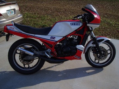 Spring fever monday mailbag pepsi rgv fzr400 vfr750 for Yamaha rz for sale