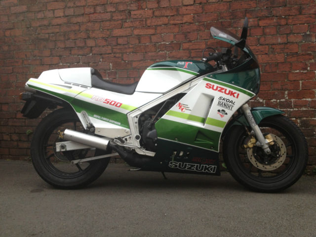 We don't promote tobacco usage, but we like this one: Suzuki RG400 (UK)