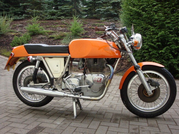 Rare, Orange, and 70's, but not a Laverda:  1971 Rickman Enfield 750 Interceptor