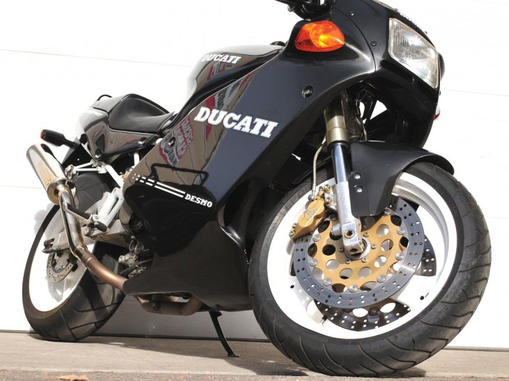 Black over White 1992 Ducati 900SS