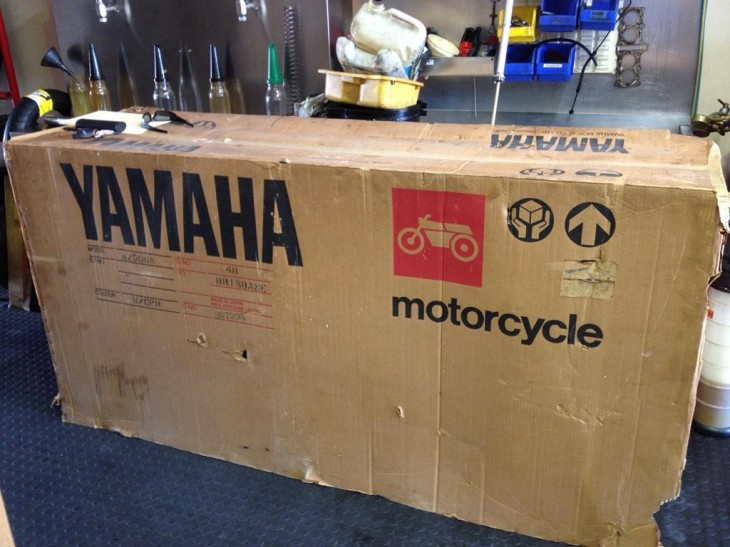 1985 Yamaha RZ500 New in the Crate For Sale