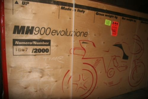 2002 Ducati MH900e for sale in the crate