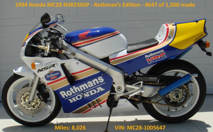 For Display Purposes Only: 1994 Honda NSR250SP Rothman's Edition