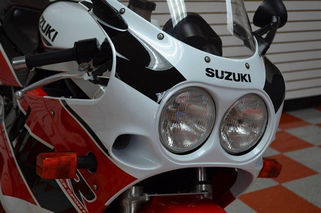 Red Raider:  Red & White 1990 Suzuki GSX-R-750 in Texas