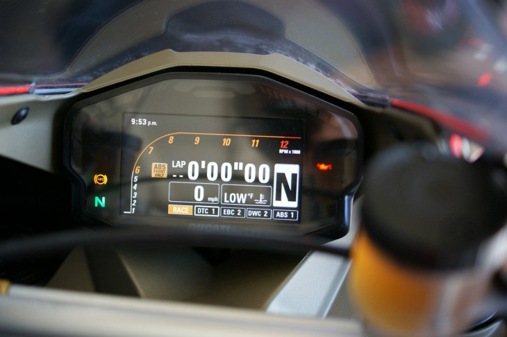 2014 Ducati Panigale Superleggera Dash