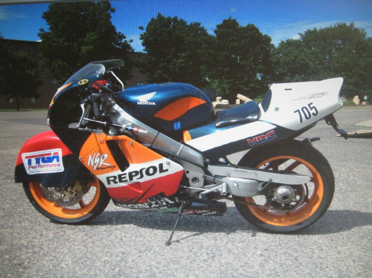 LSR NSR: 1995 Honda NSR250 MC28 as raced at Bonneville