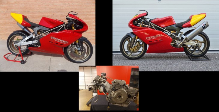 2.5 Supermono's:  Two Ducati Supermono's and an Extra Engine