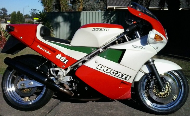 Stone the Crows:  1988 Ducati 851 Tri-colore in AUS
