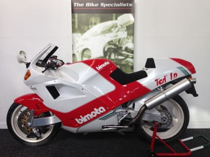 The real culprit: 1991 Bimota Tesi 1D SR (in the UK)