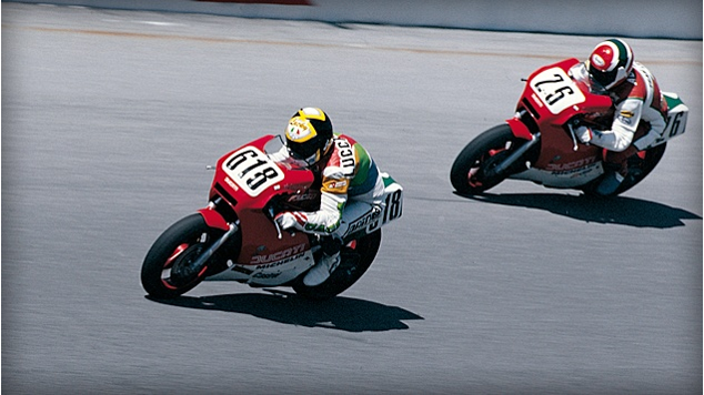 Three Cheers for the Red, White and well, Green – 3 Ducati 750 F1's