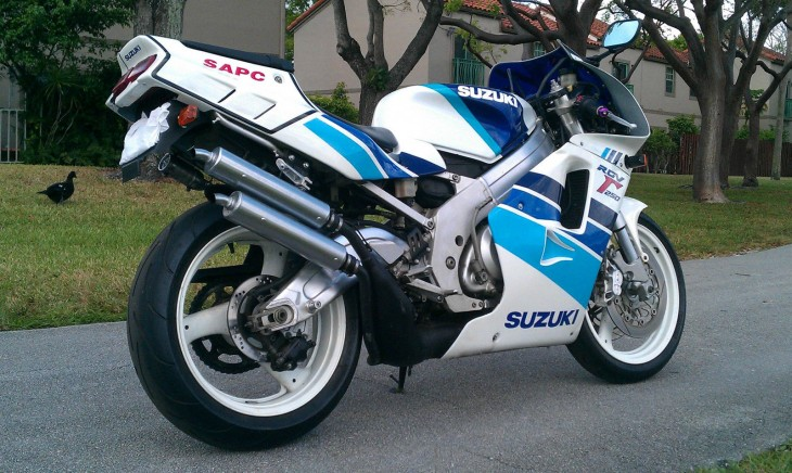 1991 Suzuki RGV250 R Side Rear