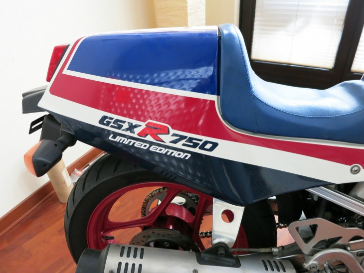 1986 Suzuki GSXR750R LE R Side Tail