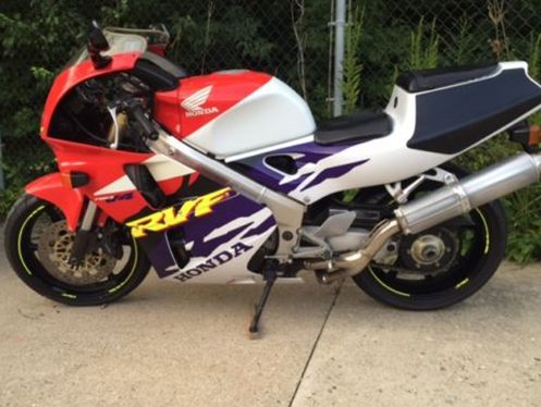 Affordable V4: 1995 Honda RVF400 with Ohio Title
