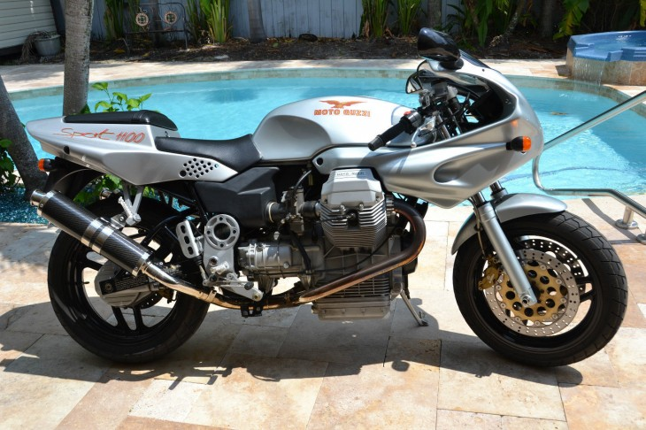 Freight Train coming through – 1995 Moto Guzzi Sport 1100