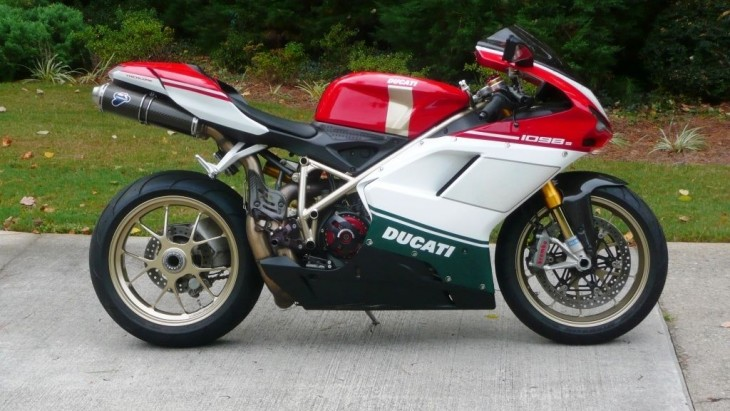 Red, White And Green Pinstripes U2013 2007 Ducati 1098S Tricolore