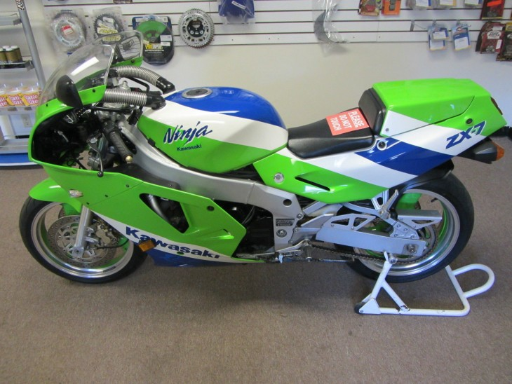 High Miles but Very Clean: 1989 Kawasaki ZX-7 H1 for Sale