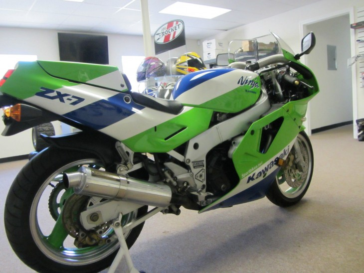 1989 Kawasaki ZX7 H1 R Side Rear