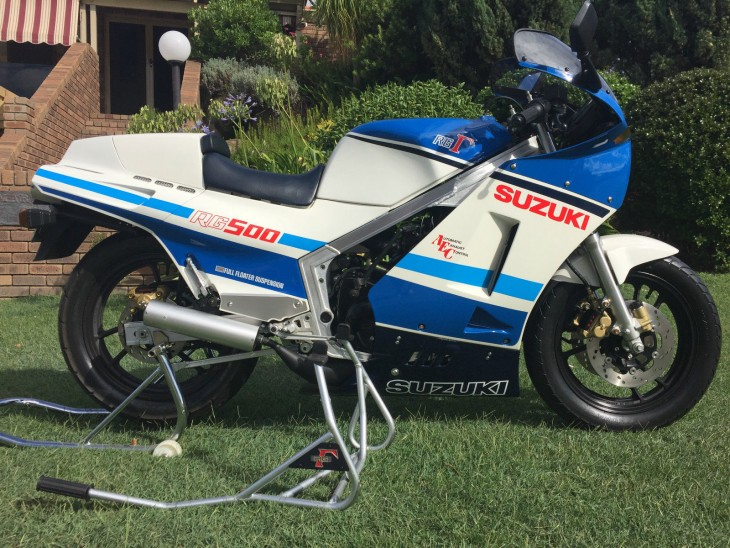Featured Listing:  One Careful Owner – New 1985 Suzuki RG500