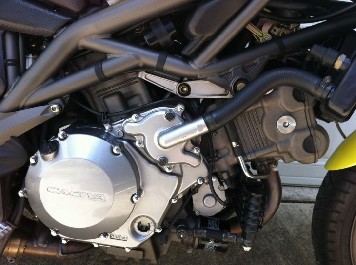 2000 Cagiva Raptor L Side Engine