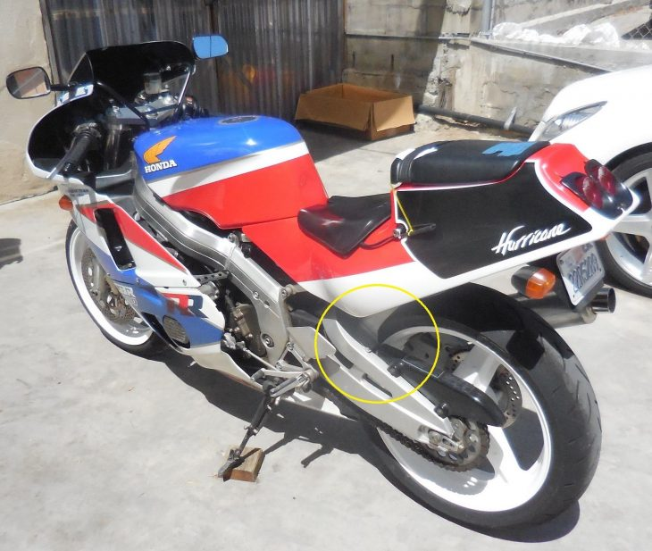 1988 Honda CBR400 L Side Rear