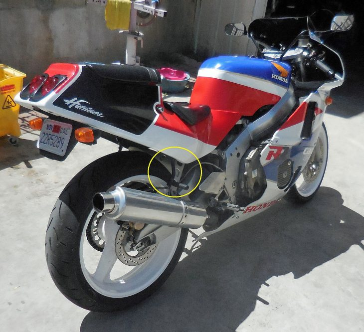1988 Honda CBR400 R Side Rear