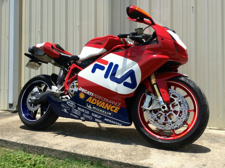 Bit of an odd Duc:  2003? Ducati 999R FILA edition