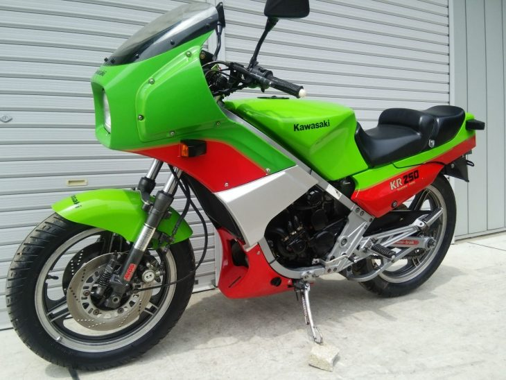 Vivid Green Oddity: 1984 Kawasaki KR250 for Sale