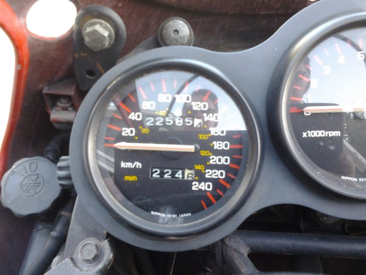 1985 Yamaha RZ500 Clocks