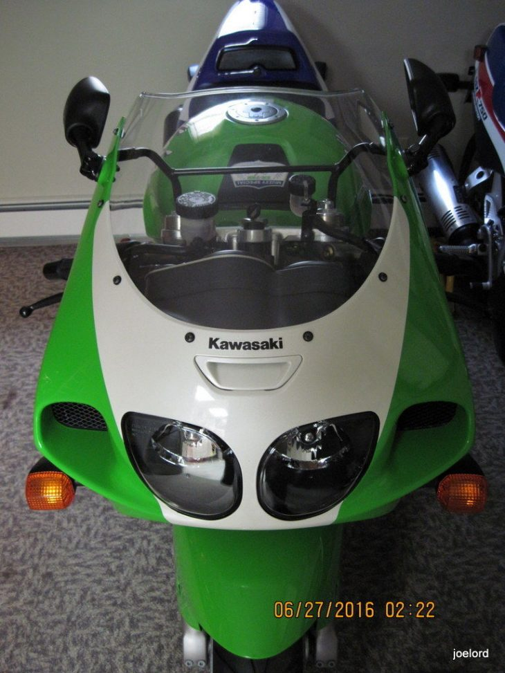 Collector Alert:  Pristine 1996 Kawasaki ZX-7RR/N1 formerly owned by Rob Muzzy