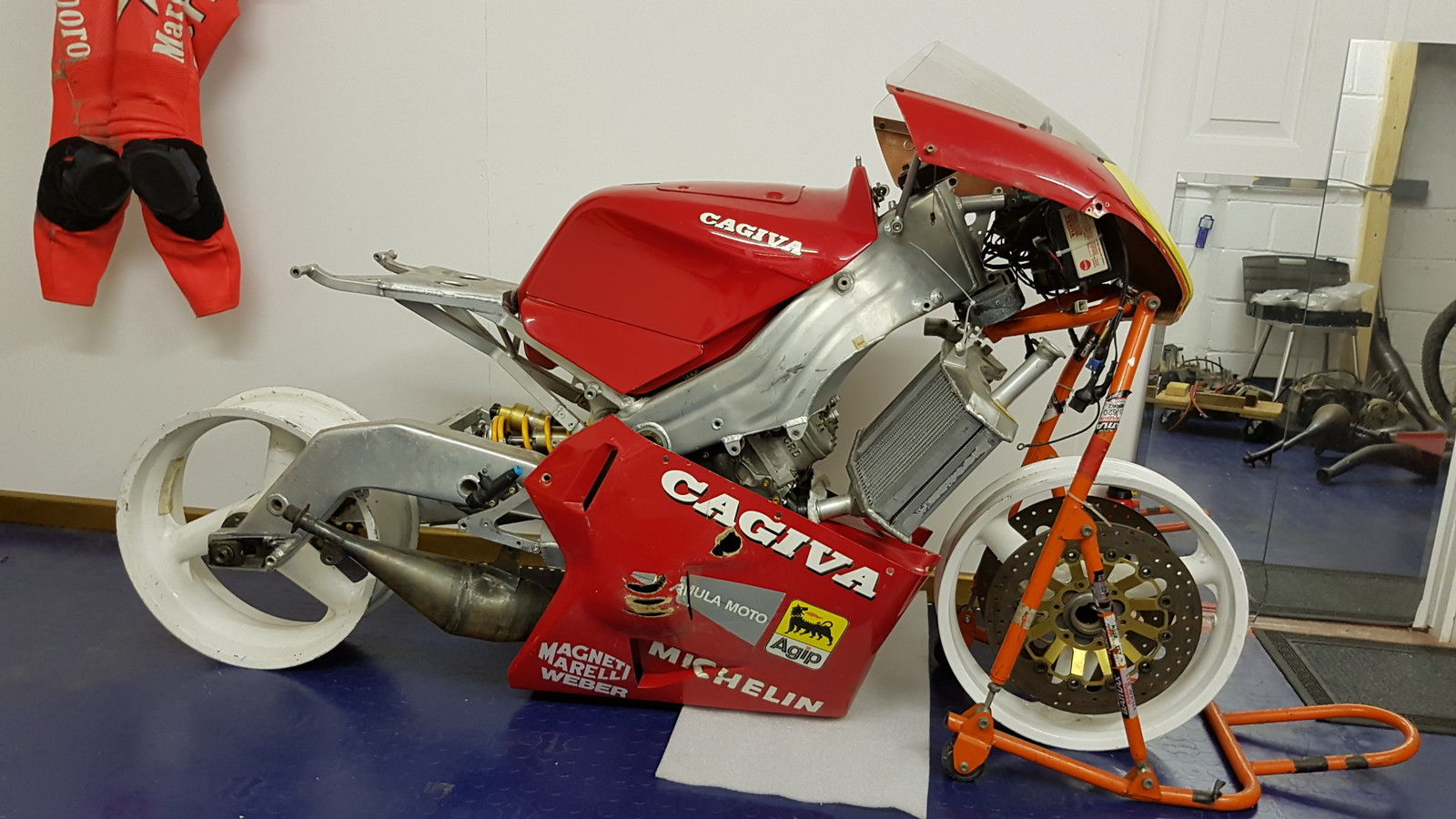 Some Assembly Required: 1989 Cagiva 500GP V589 for Sale - Rare ...