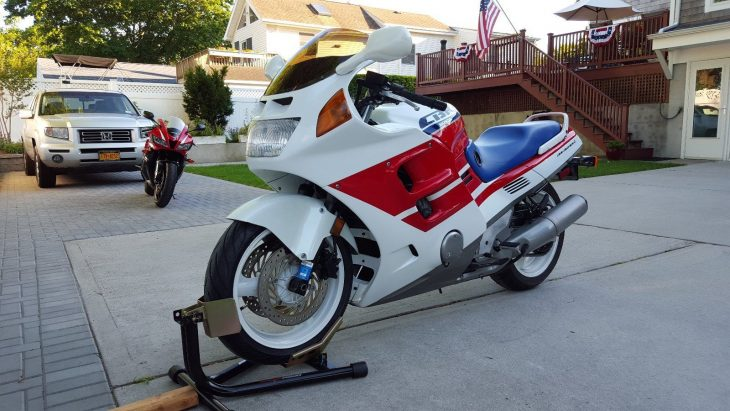 All the Fairing: Clean Tri-Color 1990 Honda CBR1000F