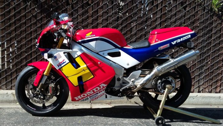Nice mods, Freddy Spencer paint: 1990 Honda VFR400R