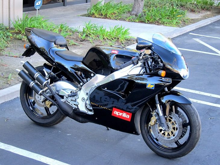 Sharp-Dressed Hooligan: 1997 Aprilia RS250 With Just 240 Miles for Sale