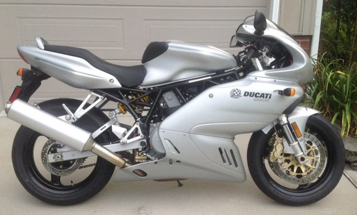 Pristine Entry-Level Italian: 2003 Ducati 620 Sport with Just 936 Miles!