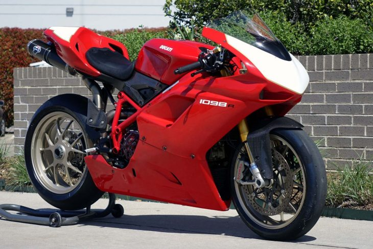 Trick Track Toy: Low-Mileage 2008 Ducati 1098R for Sale