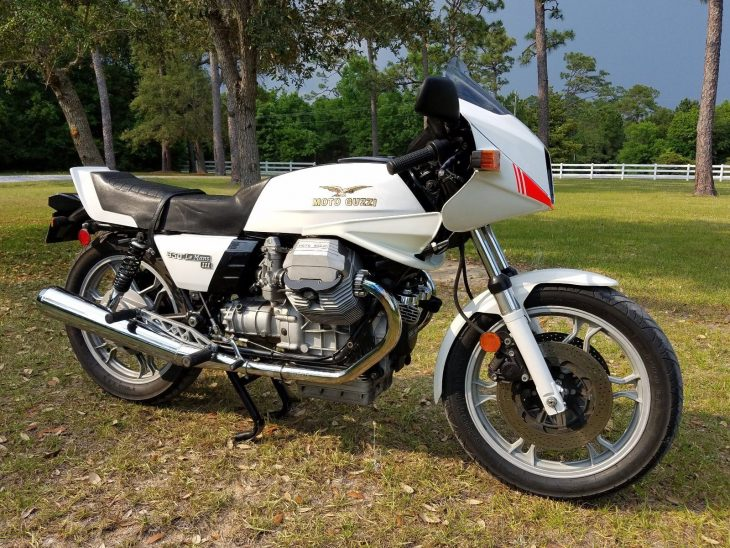 In White Satin – 1983 Moto Guzzi Le Mans III with 3,364 miles !