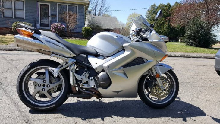 Dorian Gray:  2005 Honda Interceptor in Silver