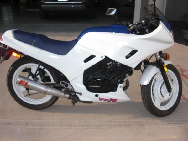 Take two, they're small: Two 1989 Honda VTR250 Interceptors