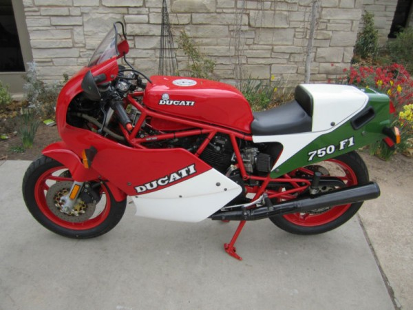 1988 Ducati 750 F1 with Just 4000 Miles