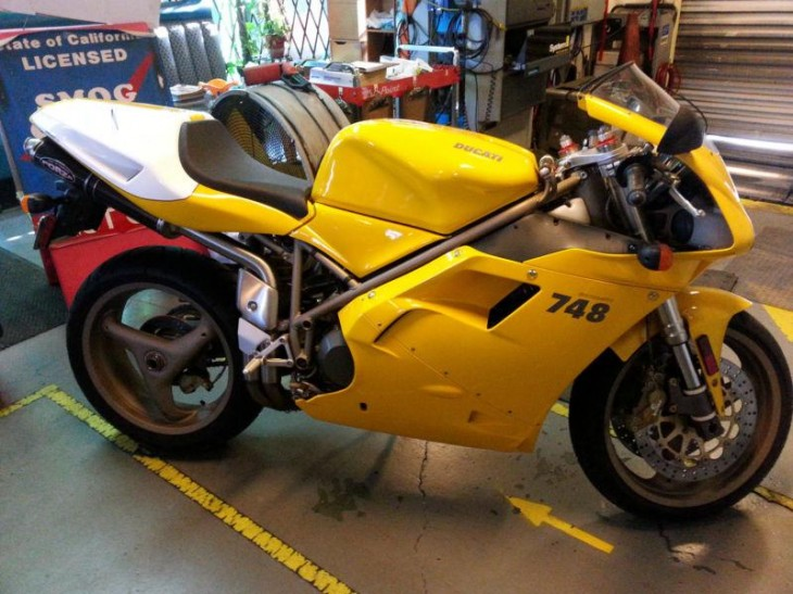 Got low miles? 1999 Ducati 748 with only 159 miles!