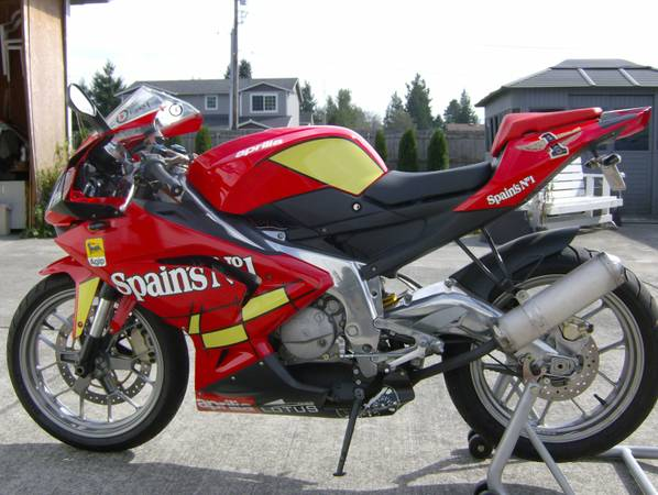 280lb Featherweight Flyer:  2009 Aprilia RS125