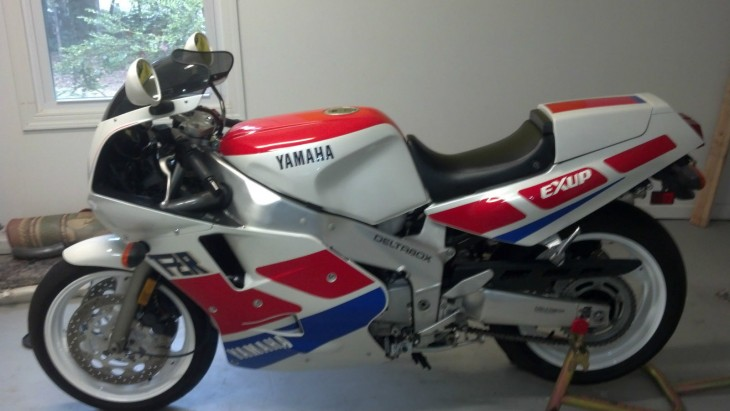 1989 Yamaha FZR1000 with Just 5500 Miles in Georgia