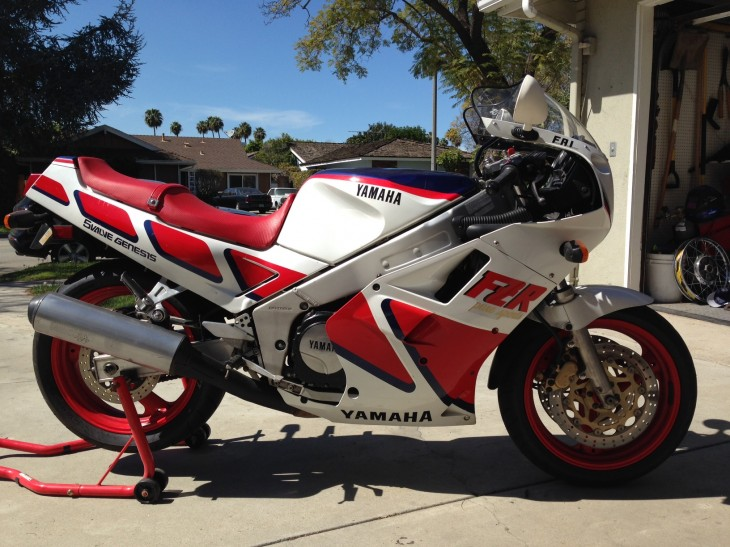Affordable, Original, and Classic Rider:  1987 Yamaha FZR1000 in Long Beach